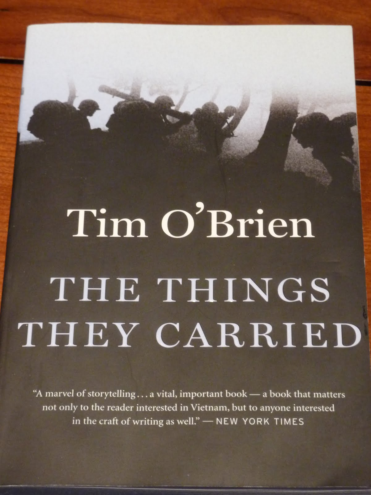 an analysis of the novel the things they carried by tim obrien In the novel the things they carried by tim o'brien the author tells about his experiences in the vietnam war by telling various war stories the quote, it has been said of war that it is a world where the past has a strong grip on the present, where machines seemed sometimes to have more will.