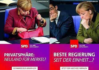 Elections Allemagne SPD - se moquer de Merkel