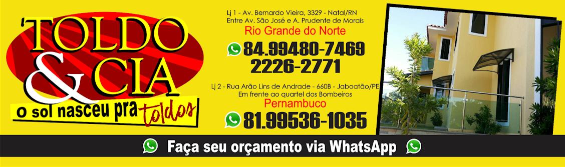 Toldo&Cia - 84.994227515 whats - Natal/RN e Recife/PE Toldo e cobertura em Policarbonato