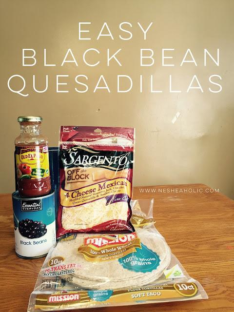 black bean quesadillas