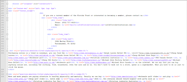 Florida Local Government Trust, Josh Wieder, floridatrustonline.com, spam links, index file