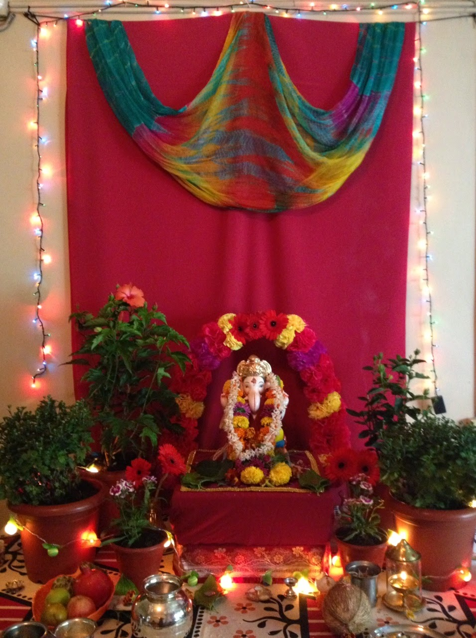 Ganapati decorations for Decorations of ganpati for home