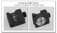 Locking Cold Shoe with Custom Threaded & Through Holes