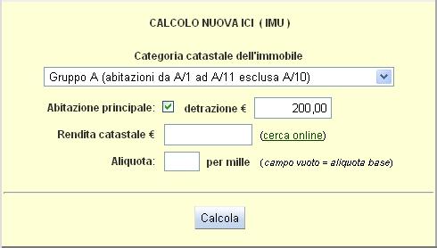 Calcola la nuova ICI