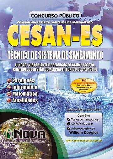 Apostila  Concurso CESAN- Companhia Espírito Santense de Saneamento - ES.