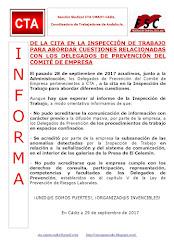 DE LA CITA EN LA INSPECCIÓN DE TRABAJO PARA ABORDAR CUESTIONES RELACIONADAS CON LOS DELEGADOS DE PR