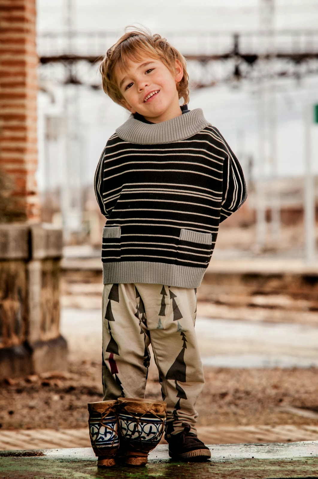 Kids merino wool sweater and tribal baggy pants by Perfect Days