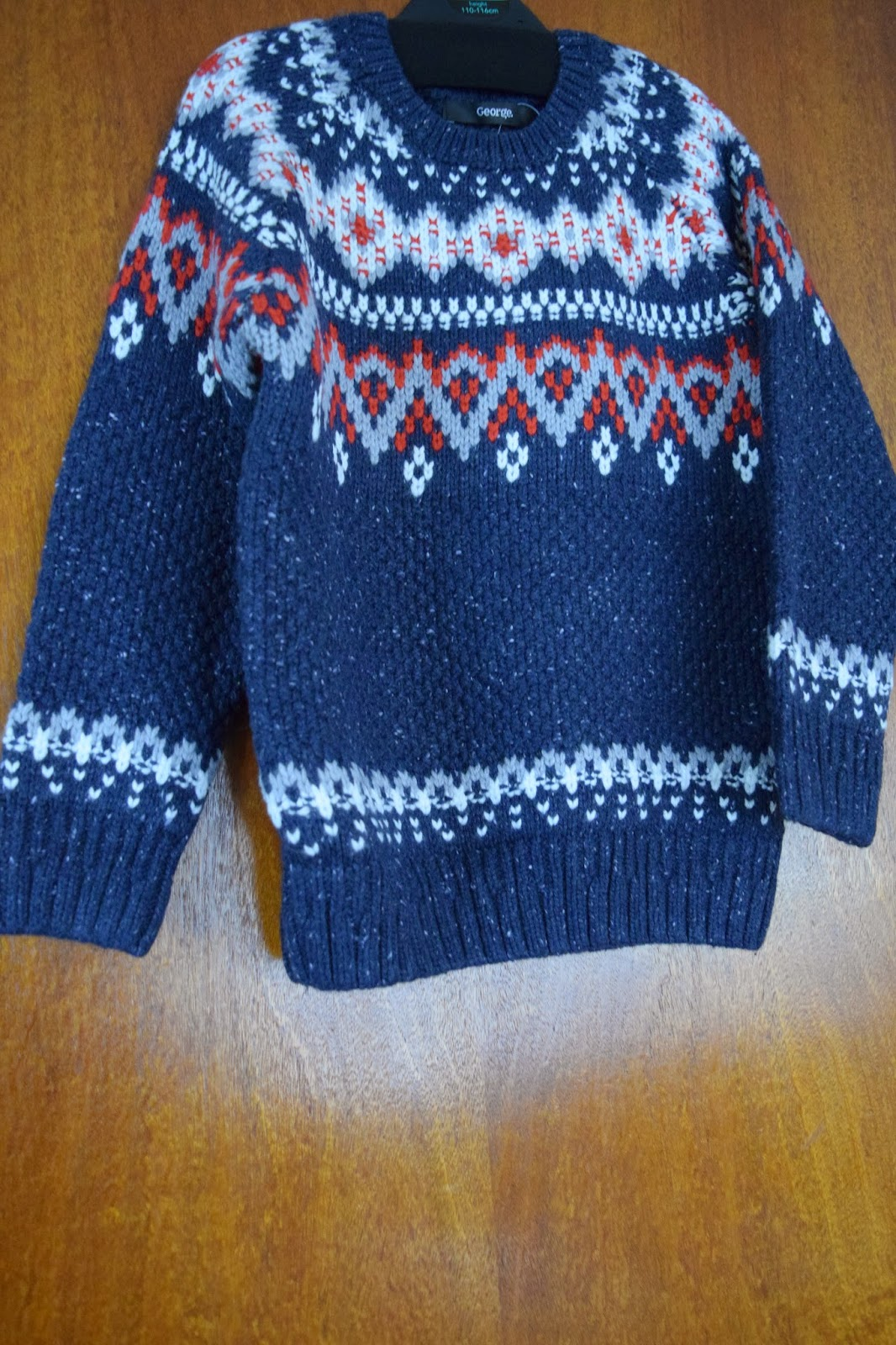 Asda, George, Boys, fairisle, jumper