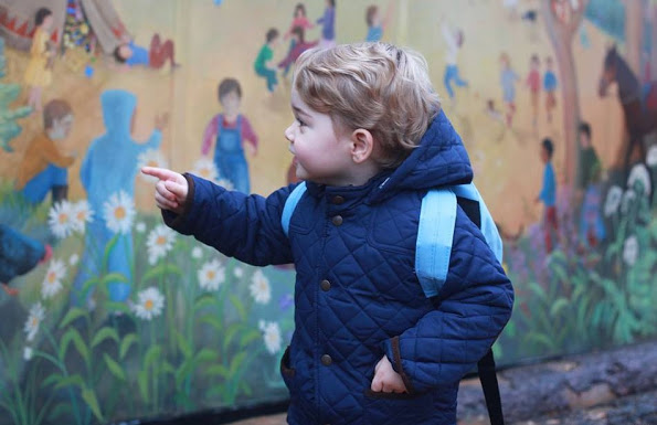 Britain's Prince George Attends Nursery School