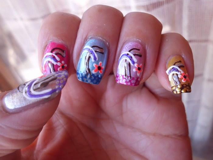 nails art palmeras