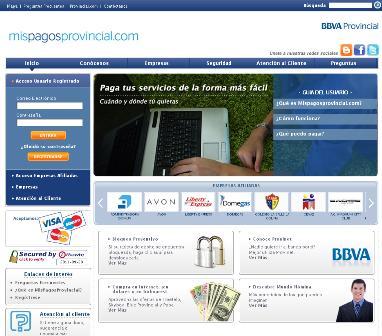BBVA Provincial lanza nuevo portal para pago de servicios