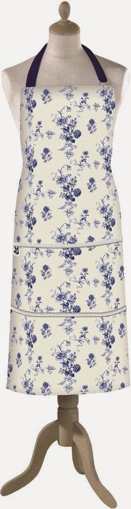 blue flower apron