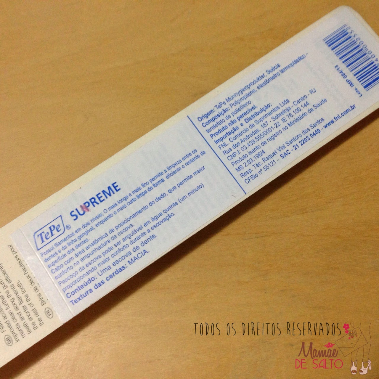 presskit escova de dentes TePe Supreme - todos os direitos reservados ao blog Mamãe de Salto