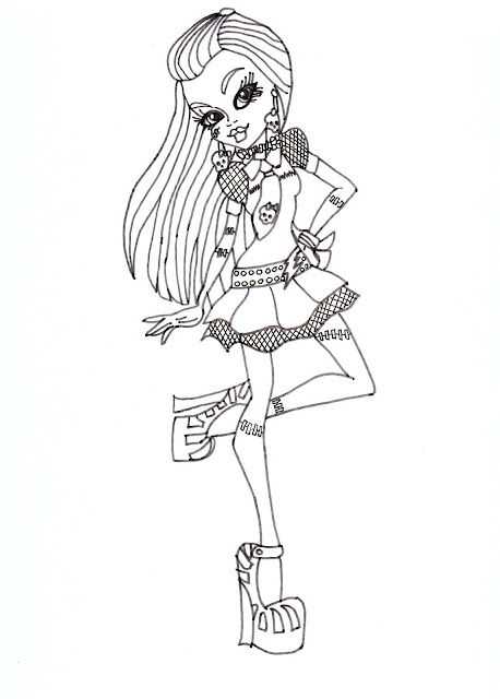 Free Printable Monster High Coloring Pages Frankie Stein Coloring Sheet