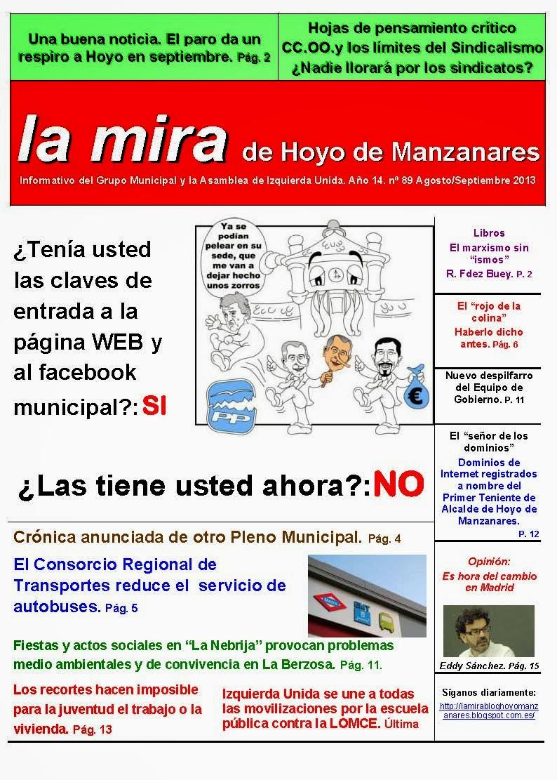 La Mira de Hoyo de Manzanares 8-9. Agosto-Septiembre 2013
