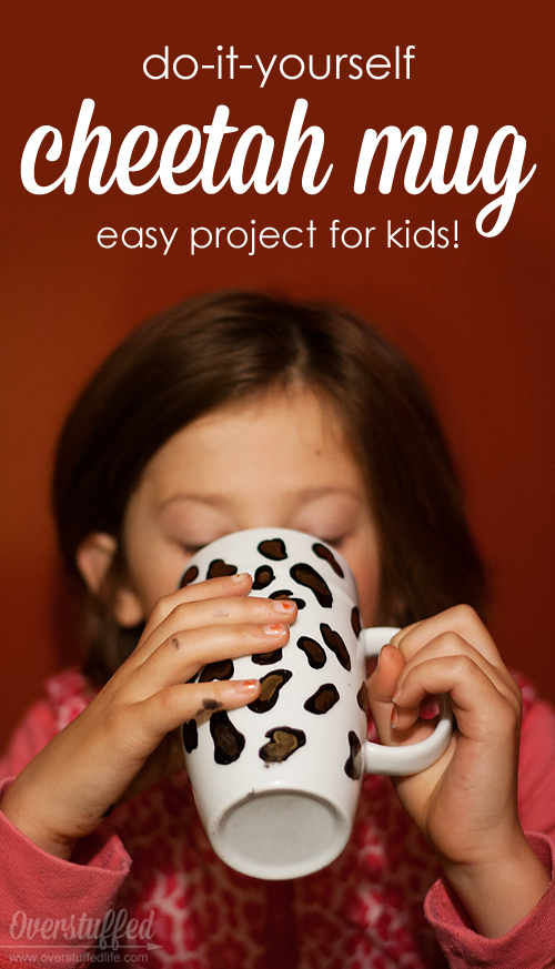 Do it yourself cheetah mug easy craft for kids overstuffed solutioingenieria Choice Image