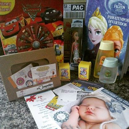 Mamãe Box, Caixas, Shampoo, Perfume, Baby, Revistas, Frozen, Ana, Bonecas, Carros, Disney, Funchicalm, Fabee, Etiquetas Adesivas, Adesivos, Publidica,