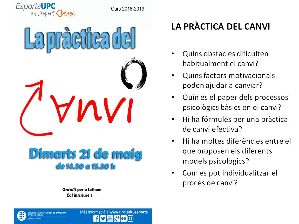 PROPERA ACTIVITAT. 21-Maig-2019