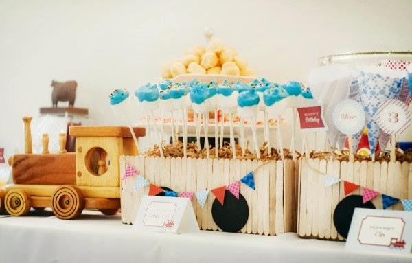 cool popsicle stick party crafts train centerpiece
