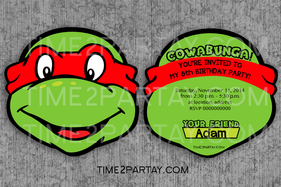 Personalized Ninja Turtle Birthday Invitations is adorable invitations example