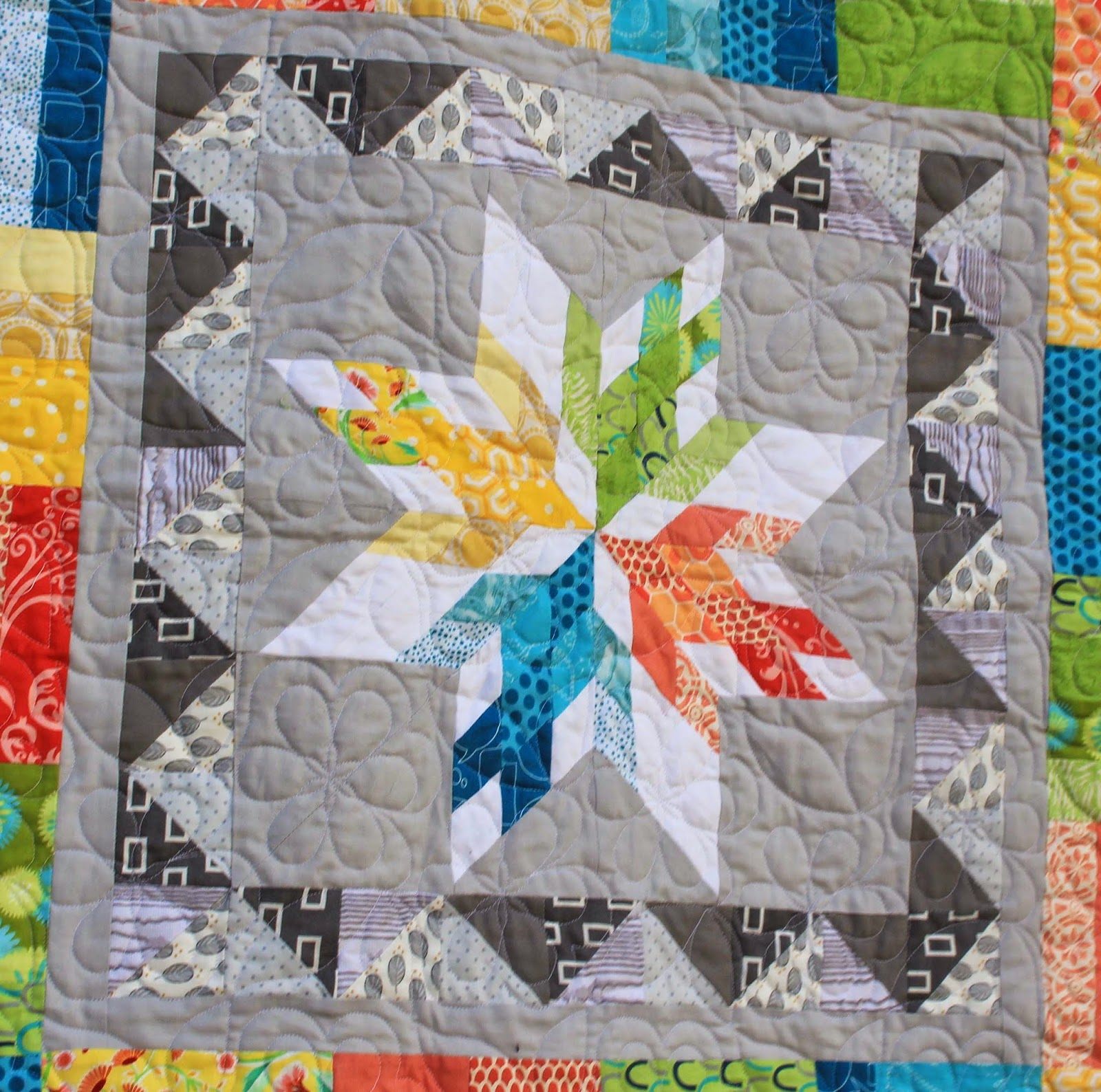 center block of aviatrix medallion quilt
