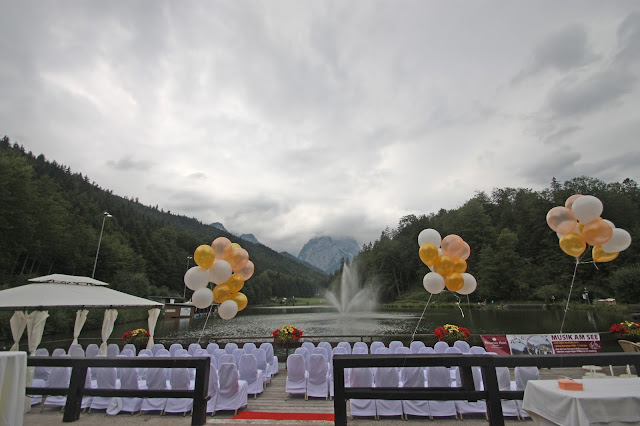 Trauung am See mit Bergblick am Riessersee in Garmisch-Partenkirchen