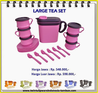large tea set tulipware 2013