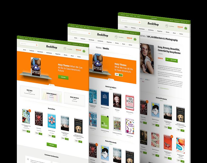 Bookshop PSD Template