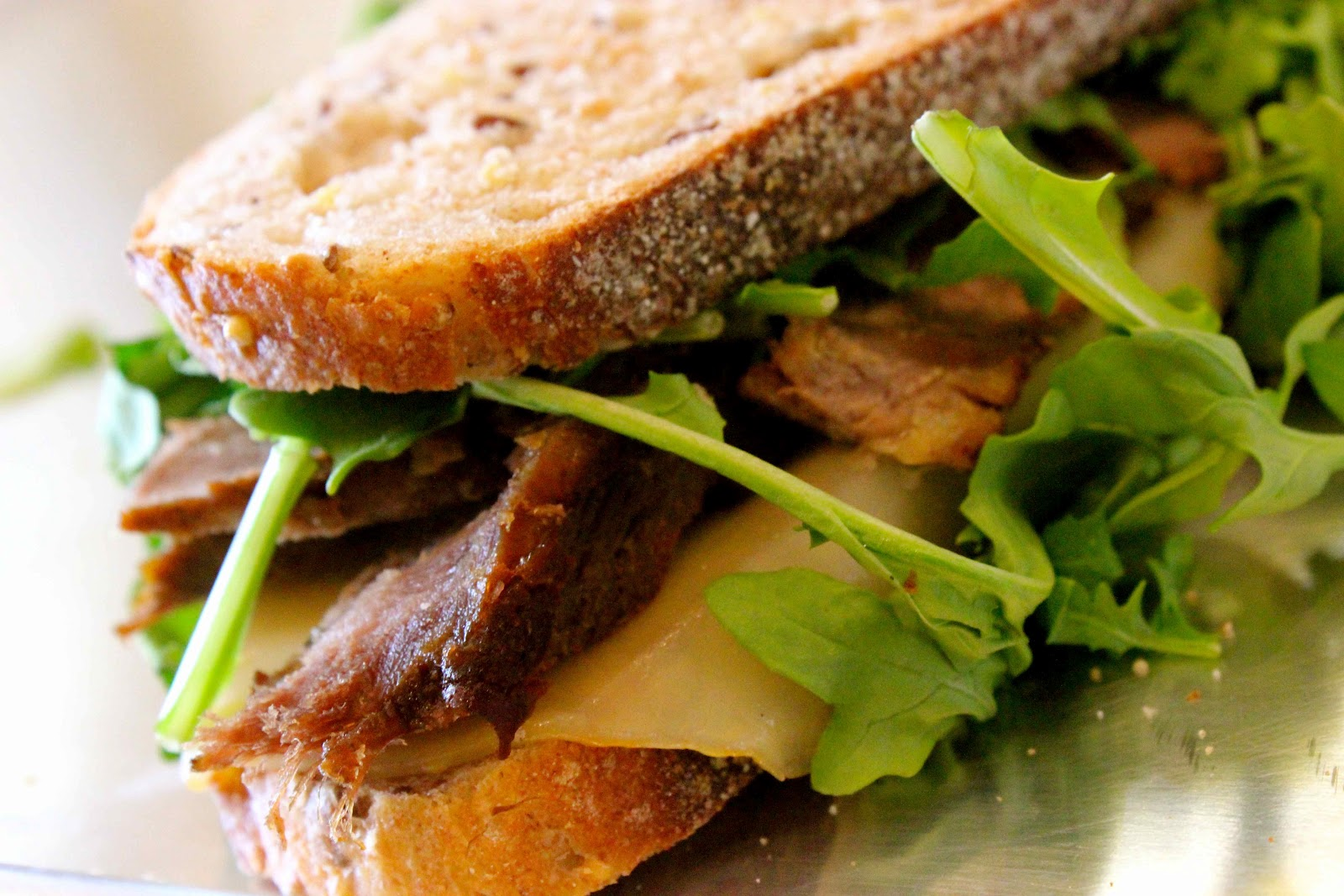 ... : Melted Cheese Panini with Organic Arugula and Chipotle Mayonnaise