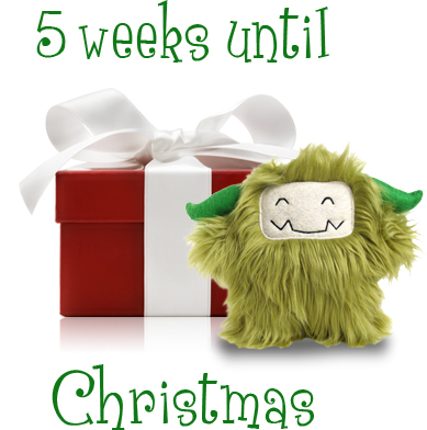 there are 5 weeks left until christmas my store will never sell out of monsters but the shipping dates are very strict depending on where you live