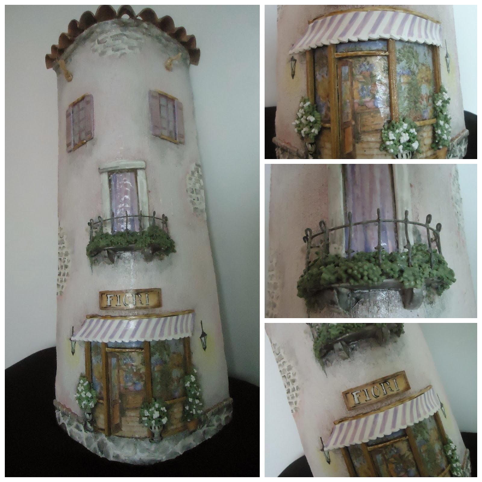 La bottega delle fate creative nuovi coppi - Coppi decorati in rilievo ...