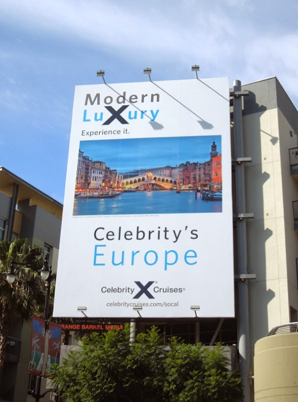 Celebrity Cruises Europe billboard