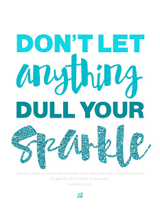 LostBumblebee ©2015 MDBN : Don't let anything Dull Your Sparkle : Matt 5:16 : Donate to download : Printable : Personal Use Only.