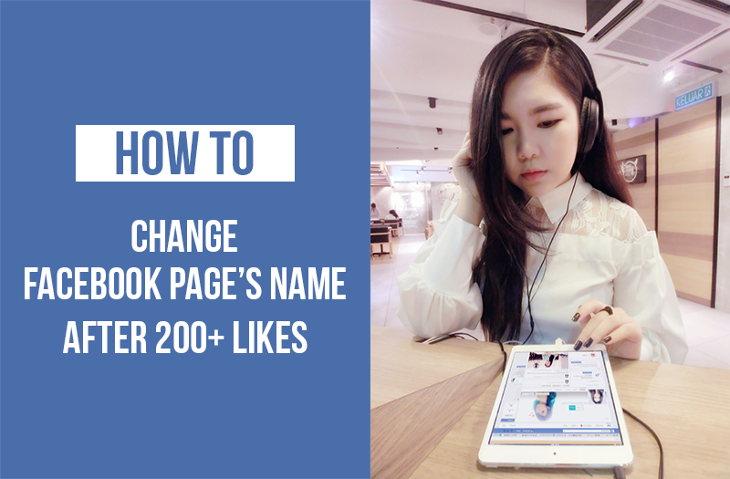 how to change name of page i created on facebook