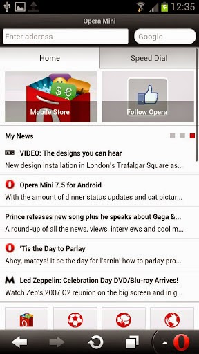Free Download Opera Mini Browser for Android APK + Data