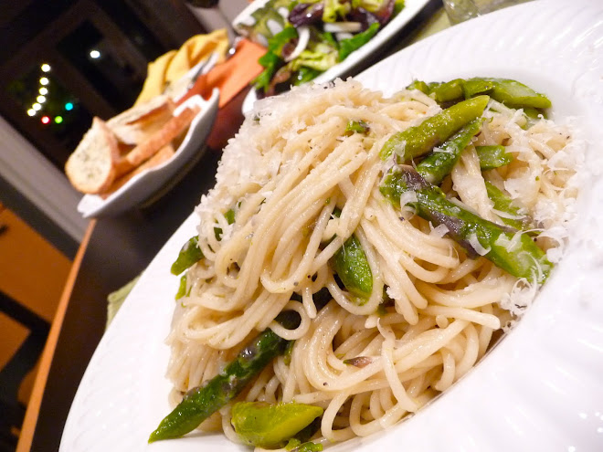 Spaghettini with Fresh Asparagus