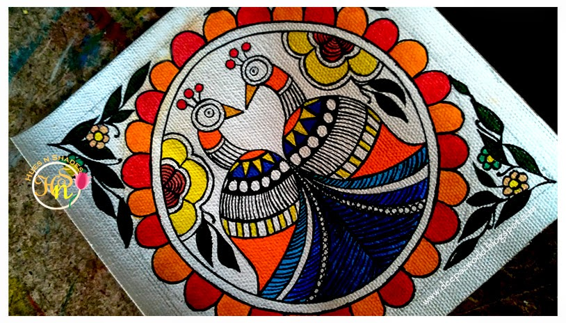 Madhubani-Miniature-Twin-Peacocks-side-HuesnShades