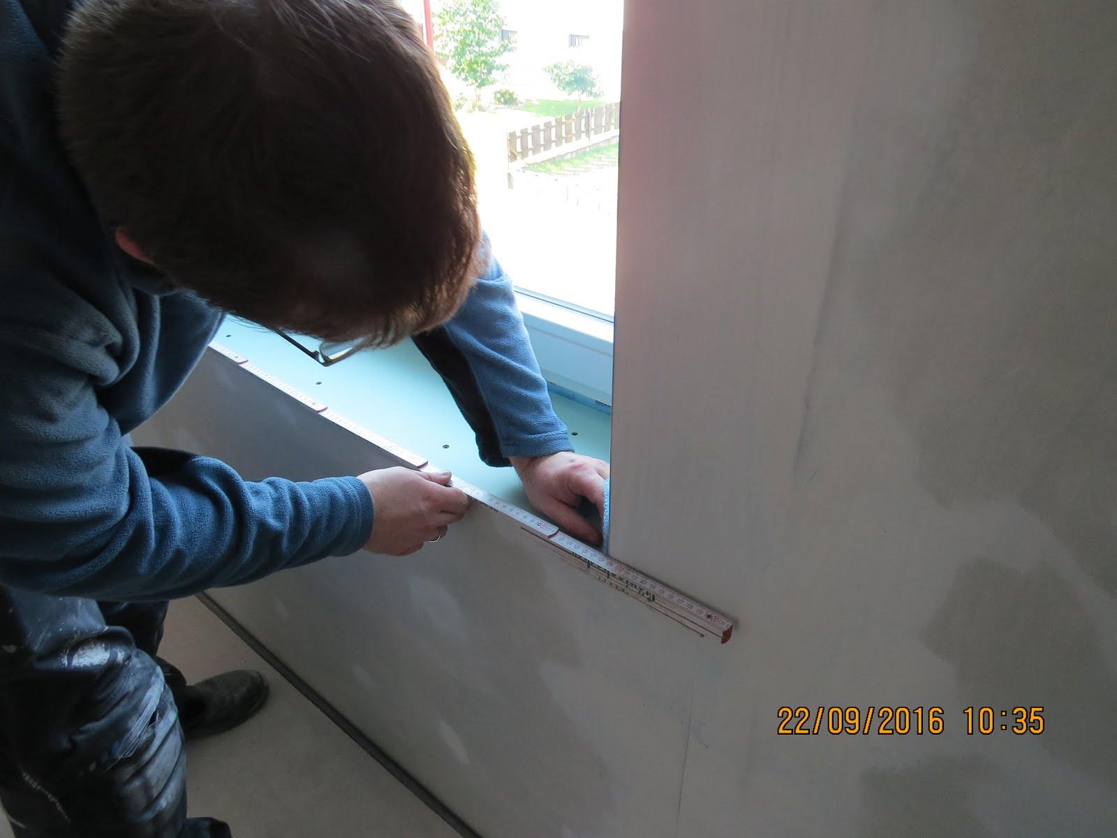 Unser Traumhaus: Fensterbänke einbauen