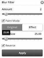 Blur Filter with Paint Mode and sliders