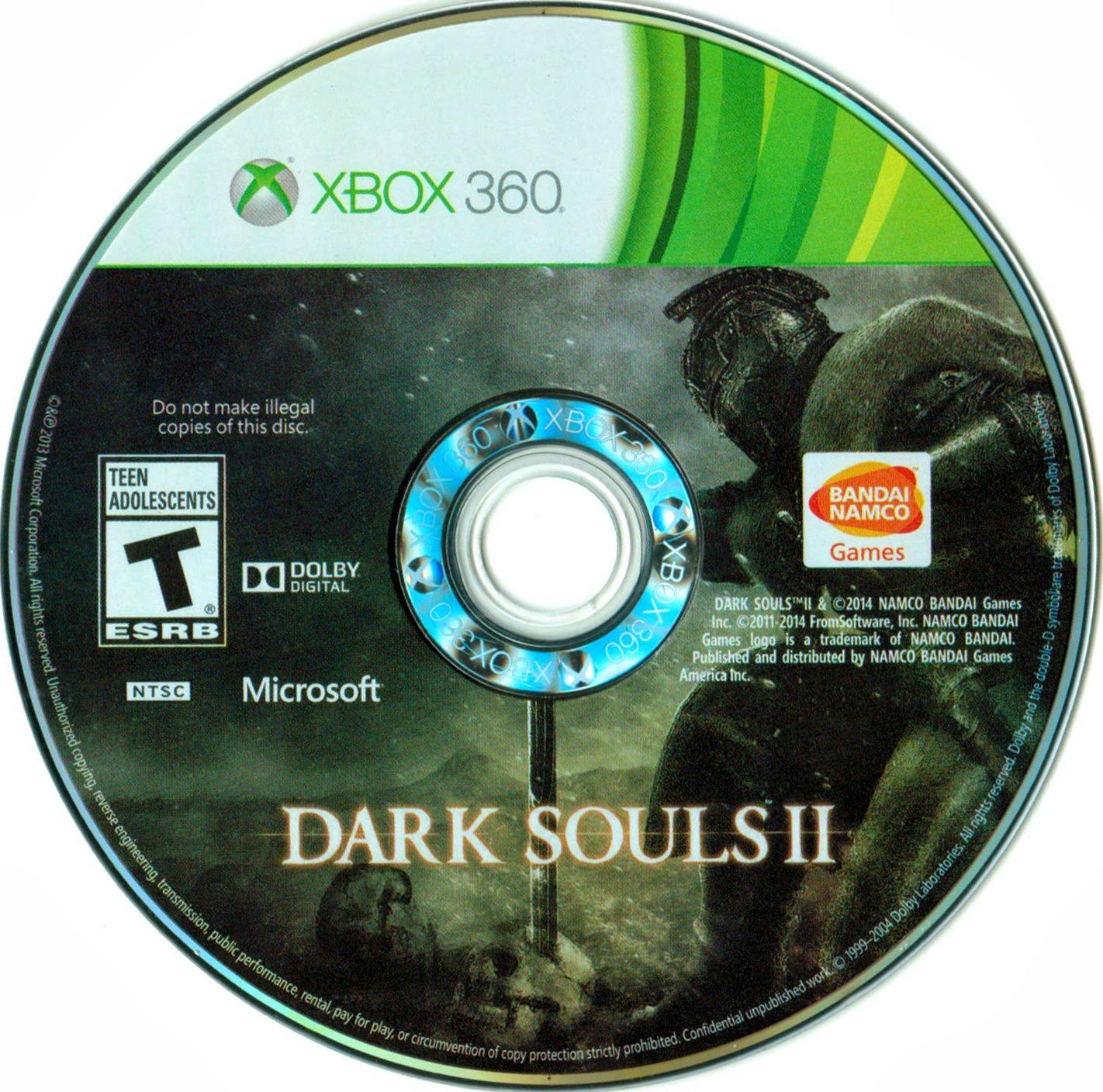 Label Dark Souls II Xbox 360