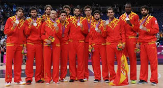 Selección española de Baloncesto masculino medalla de plata España Juegos Olímpicos de Londres 2012