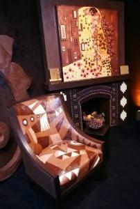 غرف مصنوعة بالكامل من الشوكولاتة  - room made of chocolate