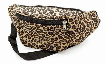 Ladies Leopard Print Bum Bag