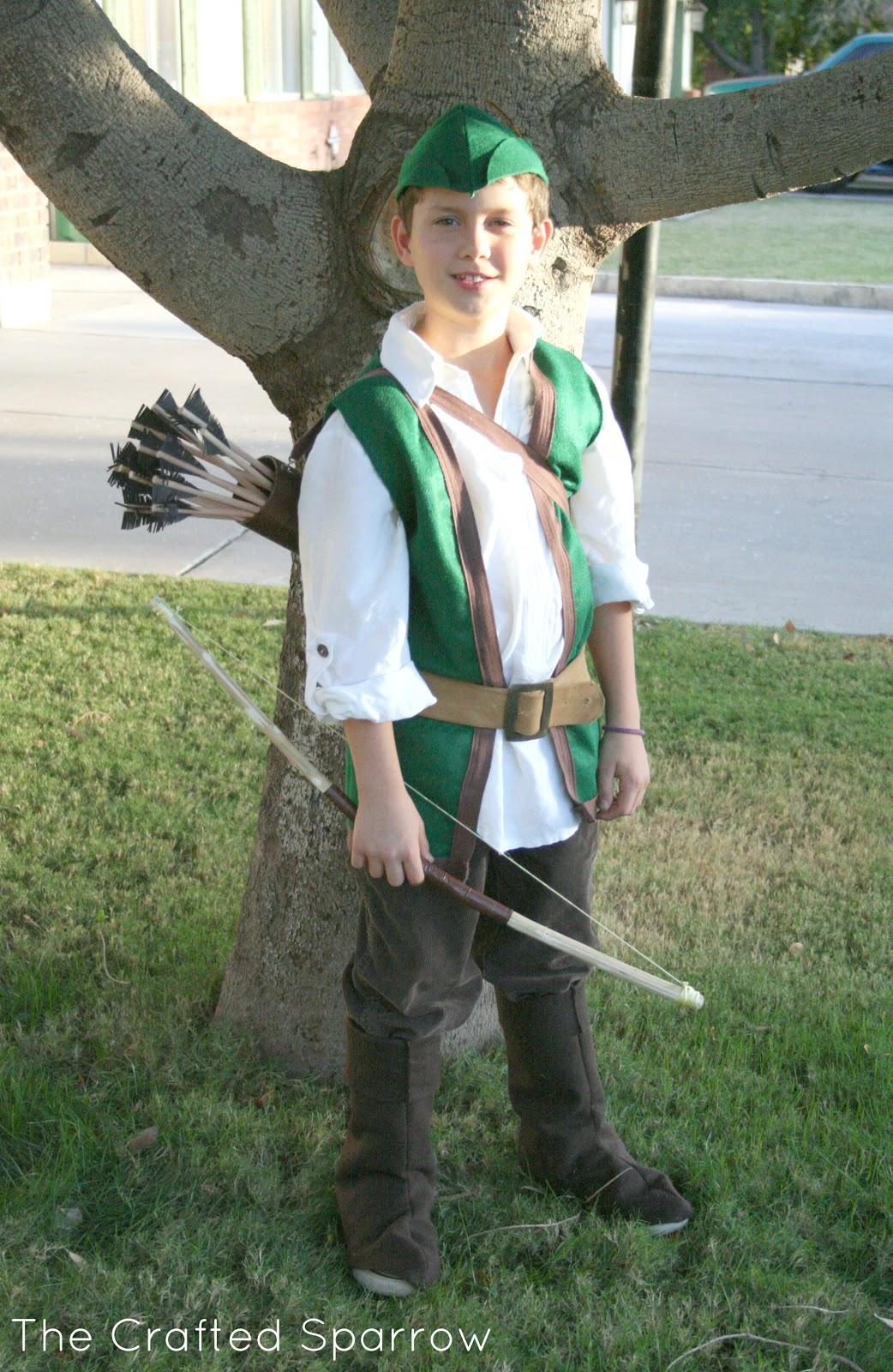 DIY Robin Hood Costume  sc 1 st  The Crafted Sparrow & Robin Hood u0026 Little John Halloween 2012