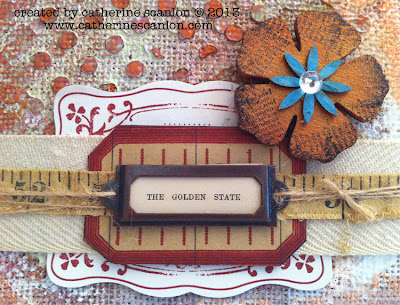 the Golden State, by Catherine Scanlon. September Guest Designer for eclectic Paperie