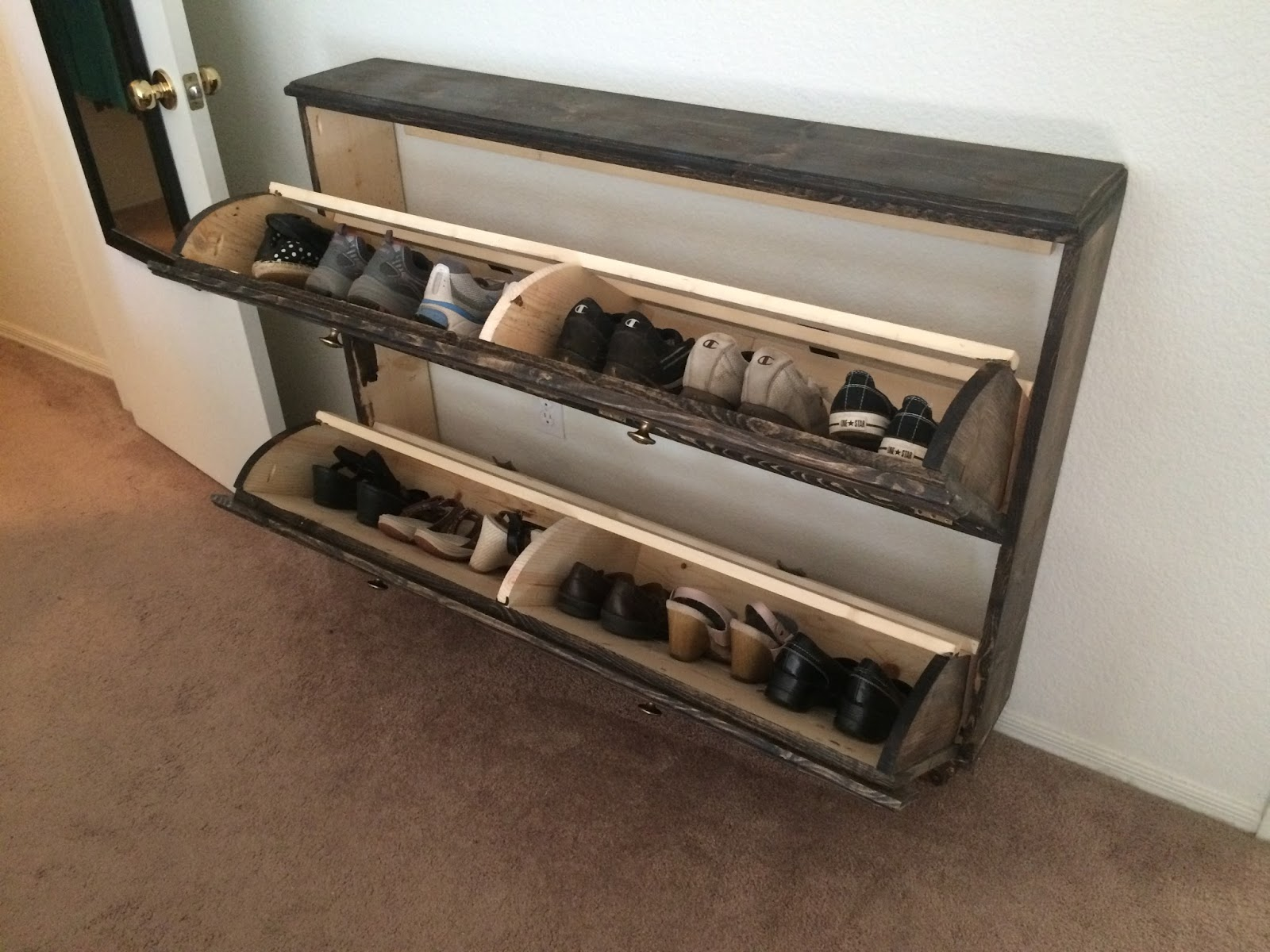how to build a shoe rack from wood