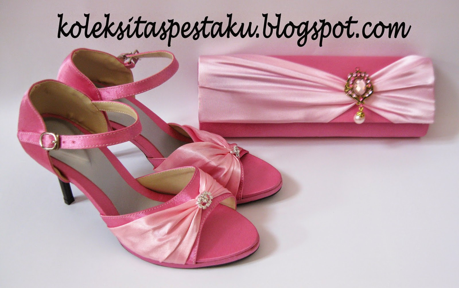 sepatu dan tas pesta cantik pink ayu pink baby bros mewah