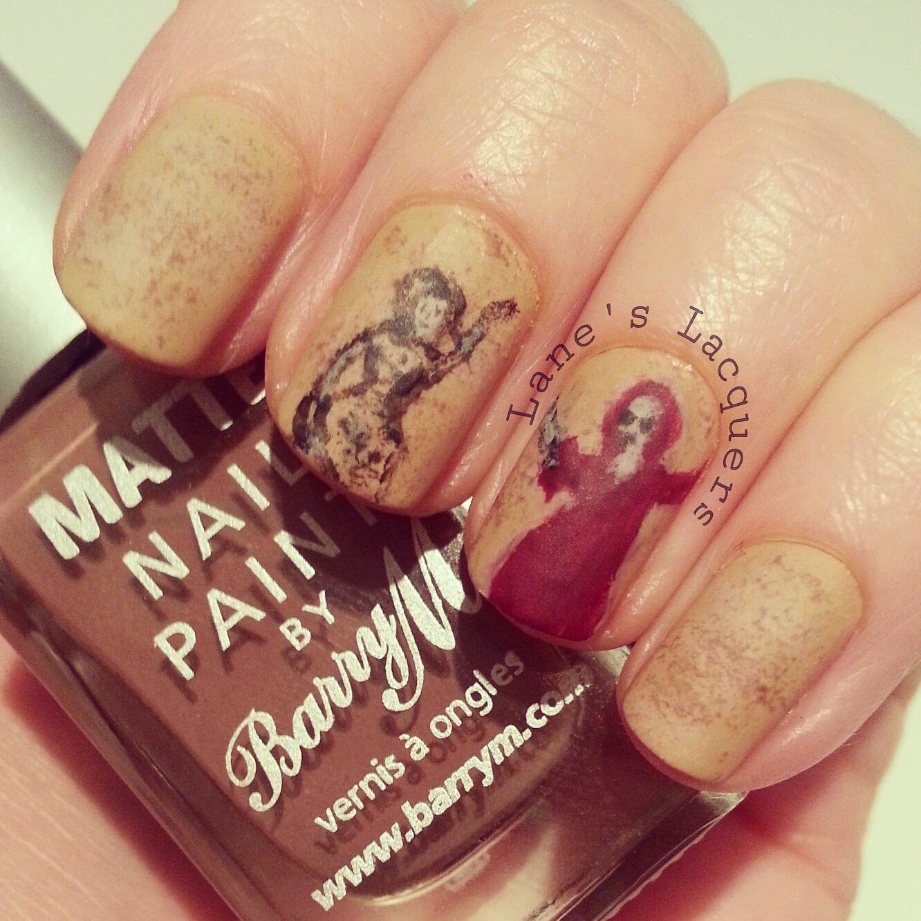 52wpnmc-brown-books-the-book-thief-nail-art (2)