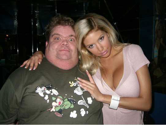 rich fat man and hot girl