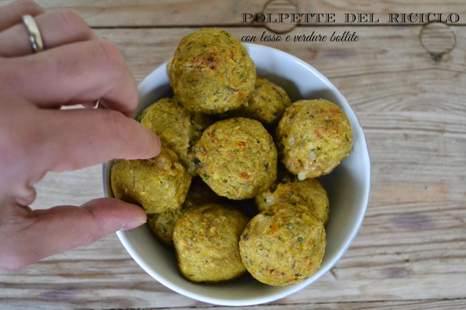 Ricetta polpette con verdure e bollito del riciclo